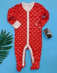 [5-6] Sleepsuit Old Navy 22 [Girl] - Đỏ/Trái Tim
