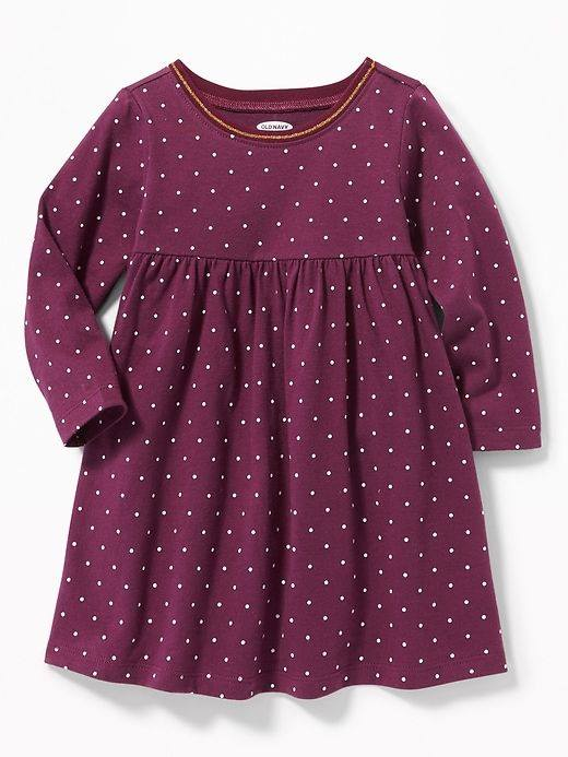 [5-12kg] Đầm cotton Old Navy 115 [Girl] - Tím/Chấm Bi