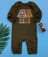 [4-6kg] Sleepsuit Old Navy 22 [Boy] - Xanh Rêu/Robot