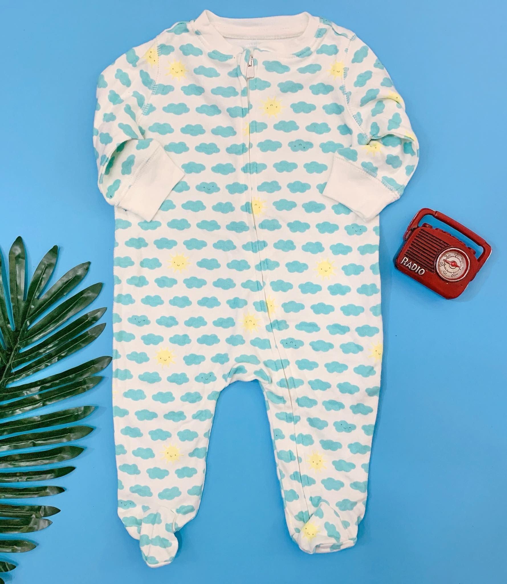 [5-10kg] Sleepsuit Baby Gap 56 [Boy] - Trắng/Mặt Trời