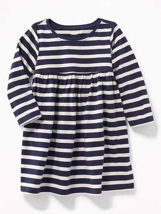 [5-6kg; 8-12kg] Đầm Old Navy 115 [Girl] - Trắng/Sọc Xanh