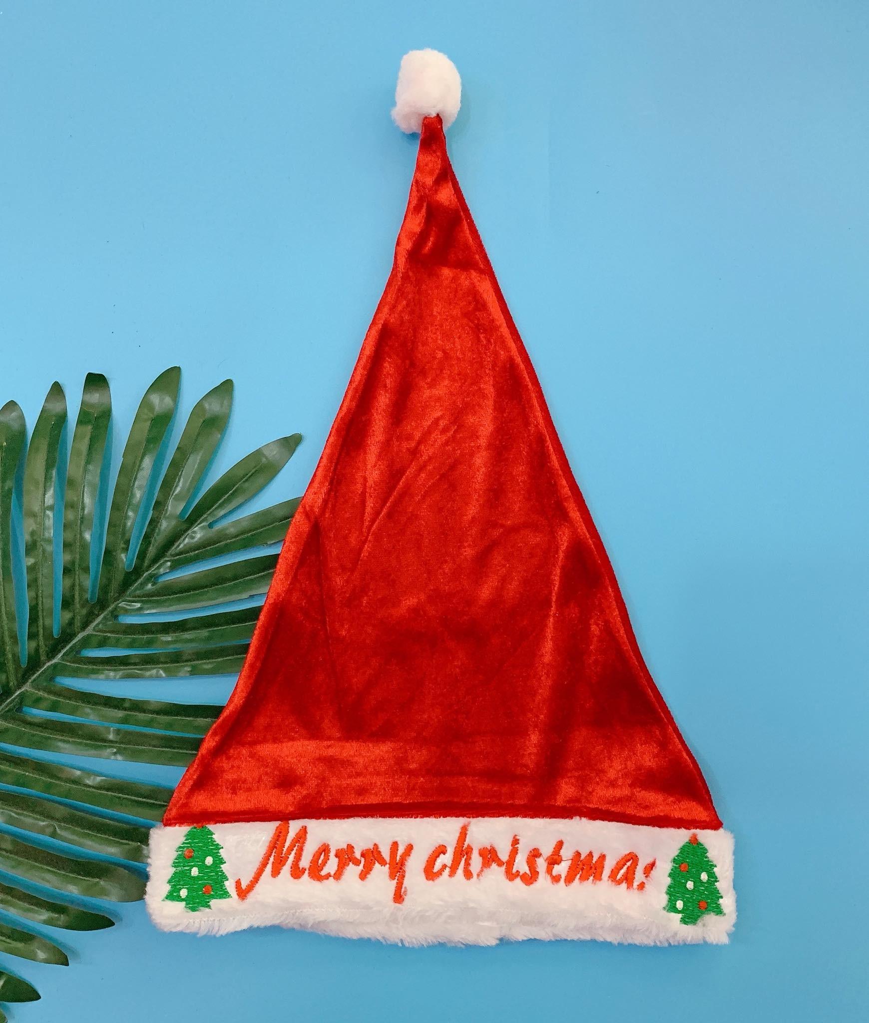 Mũ Noel A1 Baby [Boy/Girl] - Đỏ/Chữ