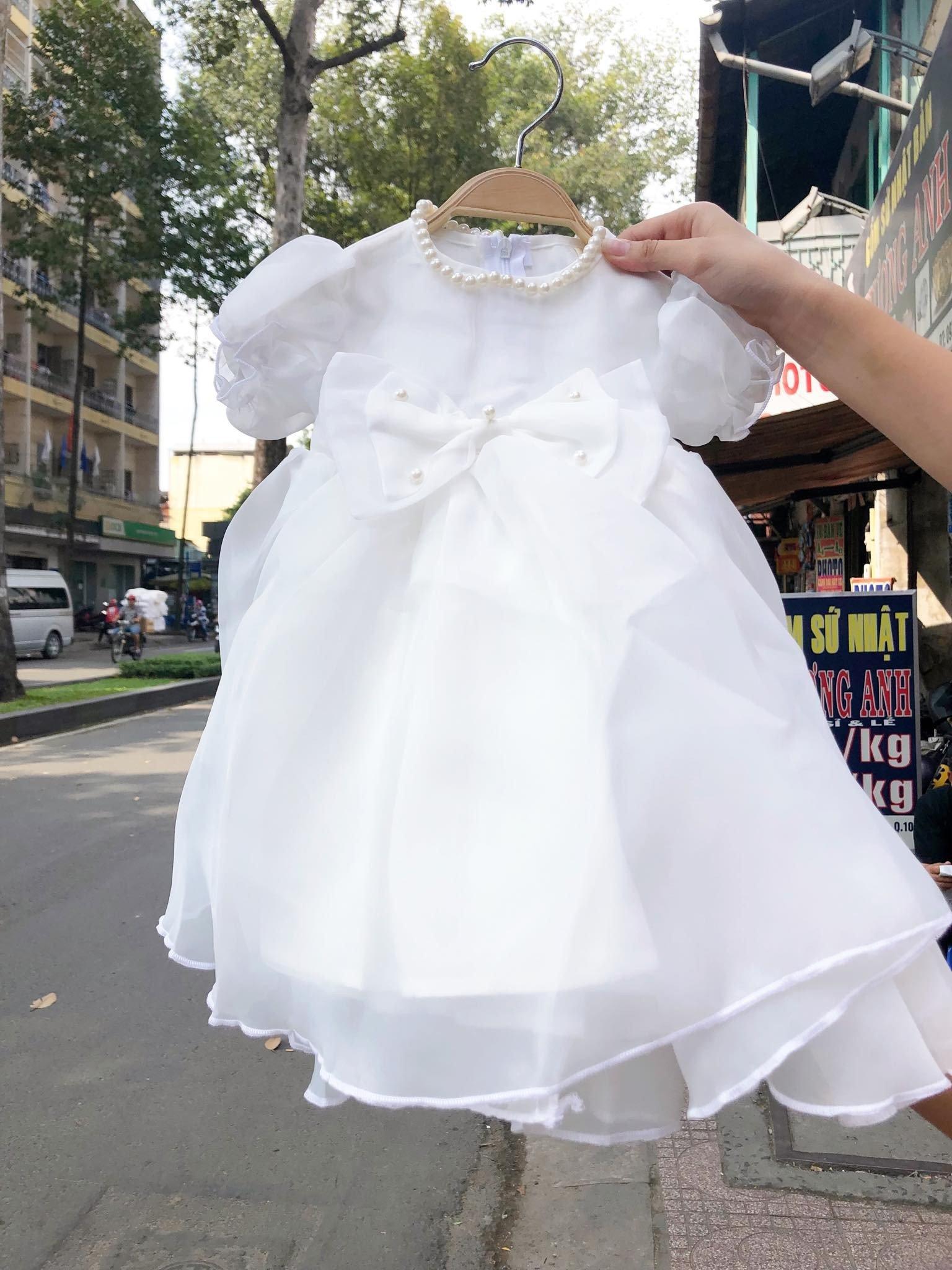 [7-19kg] Đầm Ahimum A4 [Girl] - Trắng