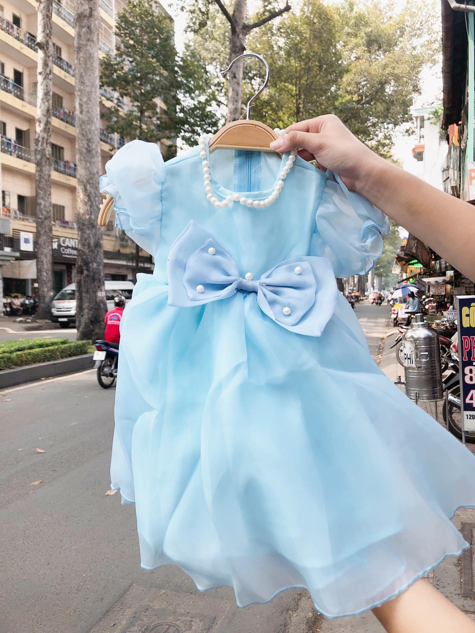 [7-9kg] Đầm Ahimum A4 [Girl] - Xanh