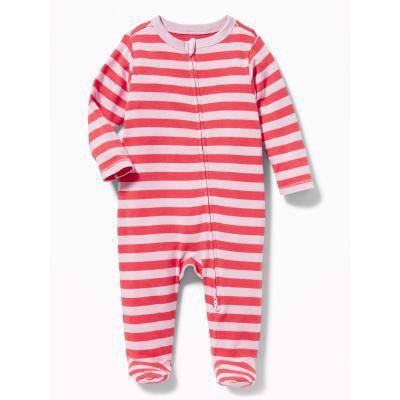 [6-7kg] Sleepsuit Old Navy [Boy] - Cam/Sọc Tím