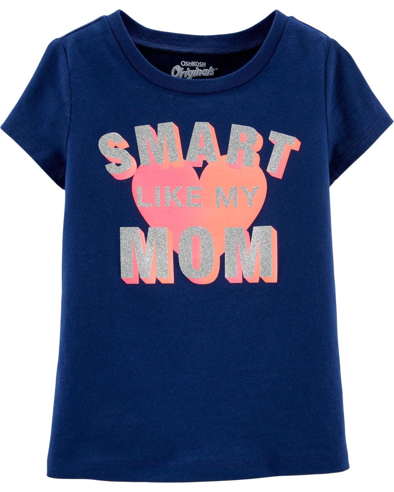 [4-15kg] Áo Thun OshKosh [Girl] - Xanh Navy/Smart Mom