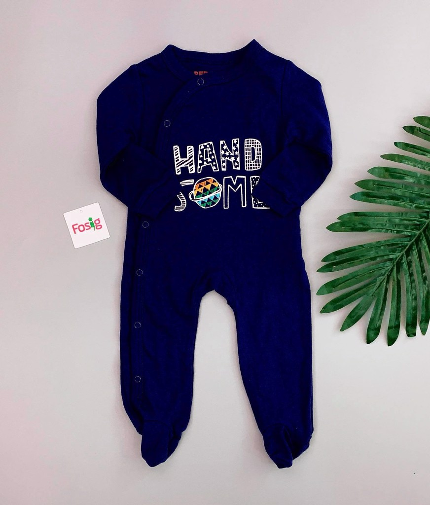[7-8kg] Sleepsuit Red Tag [Boy] - Navy/Hand Some