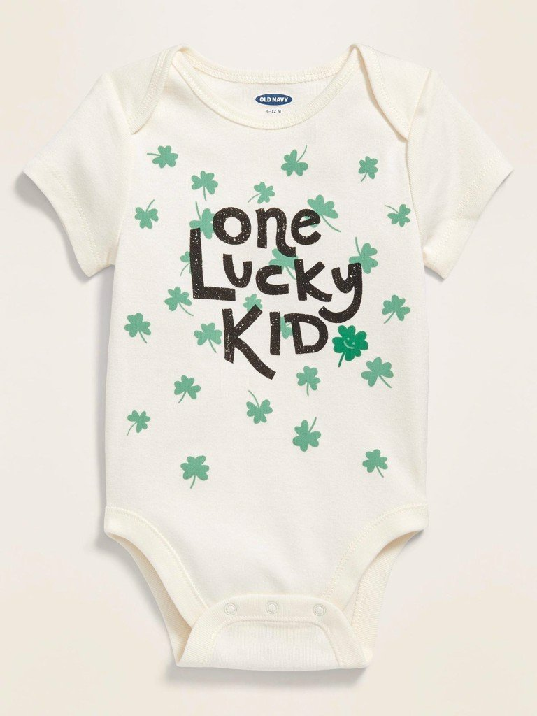 [4-7kg; 12-13kg] Bodysuit Old Navy [Boy] - Trắng/One
