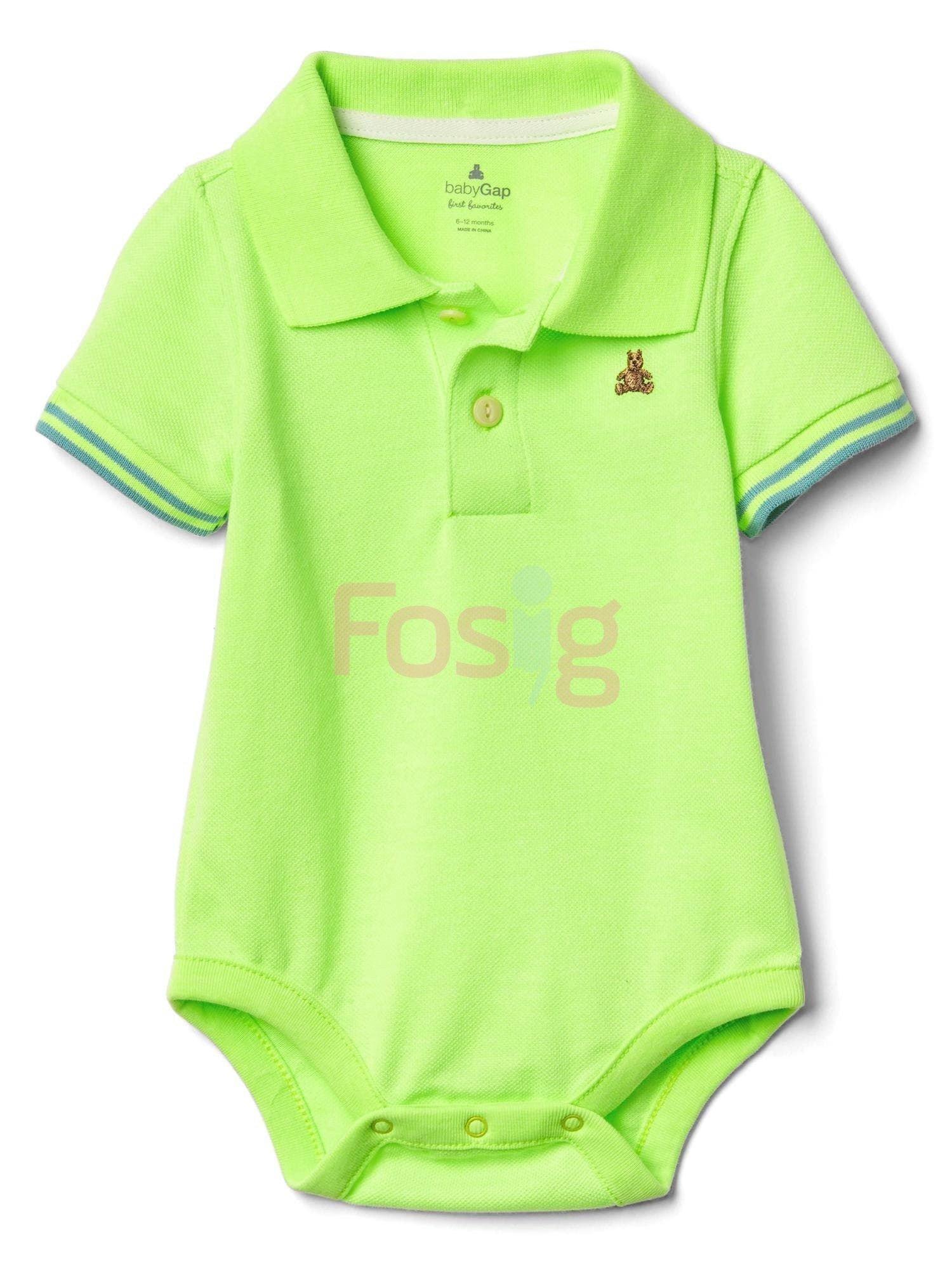 [5-7kg; 9-10kg] Bodysuit Baby Gap 81 [Boy] - Xanh Dạ Quang