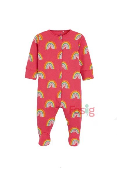 [4-14kg] Sleepsuit Baby [Girl] - Hồng/Cầu Vồng