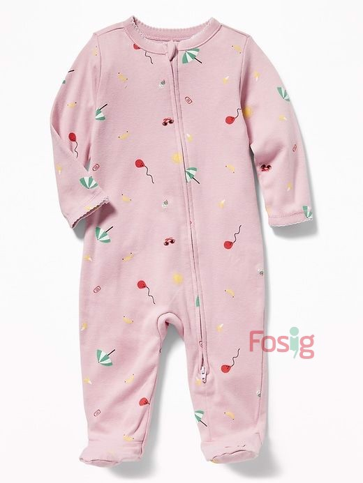 [4-7kg] Sleepsuit Old Navy [Girl] - Tím/Chuối