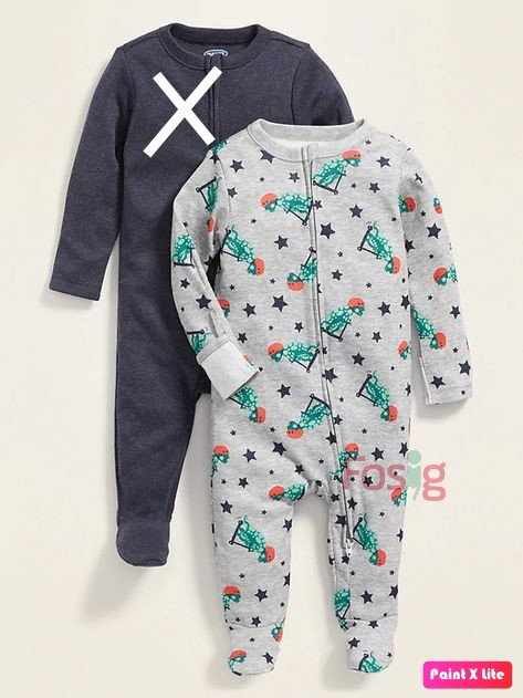 [4-7kg] Sleepsuit Old Navy [Boy] - Khủng Long/Sao