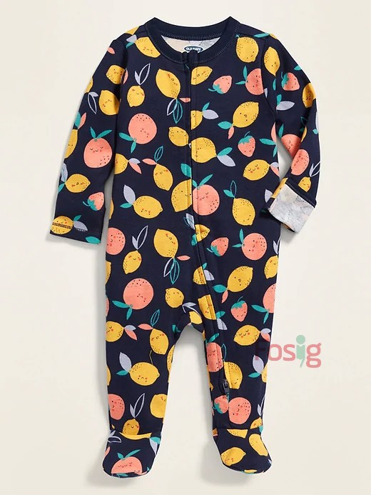 [4-7kg] Sleepsuit Old Navy [Boy] - Navy/Chanh