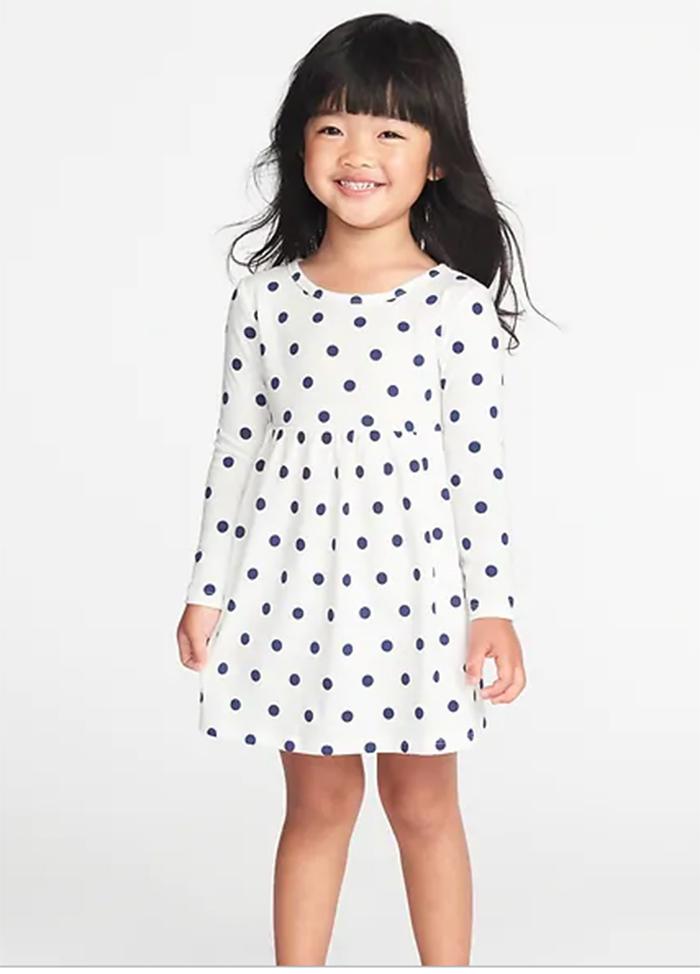 Đầm Old Navy BaBy Girl - Trắng/Chấm Bi