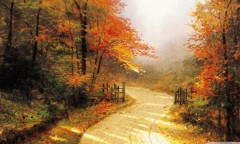 Autumn Lane By Thomas Kinkade