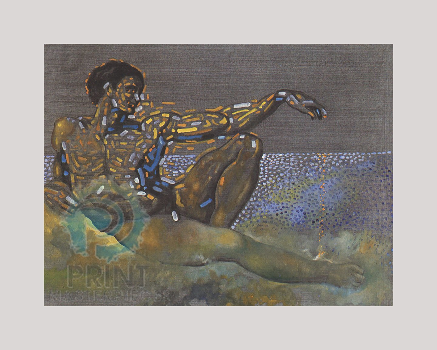 Figure Inspired By The Adam Of The Ceiling Of The Sistine Chapel By Salvador Dali
