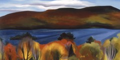 Lake George Autumn by Georgia O Keeffe