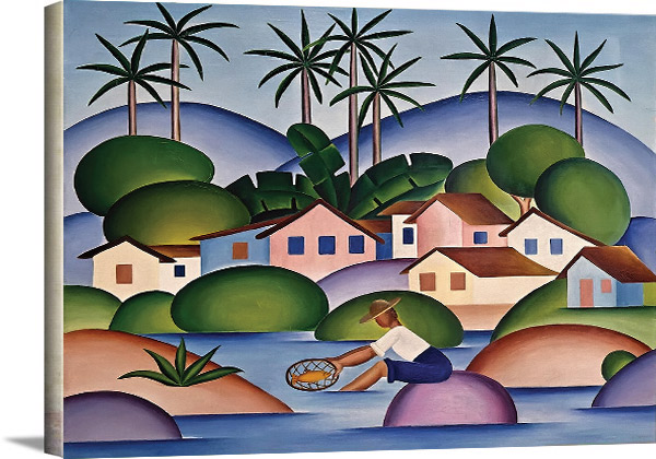 An Angler 1925 By Tarsila Do Amaral