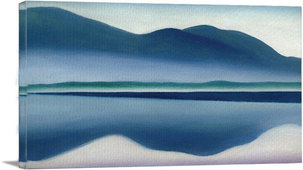 Lake George Formerly Reflection Seascape By Georgia O Keeffe