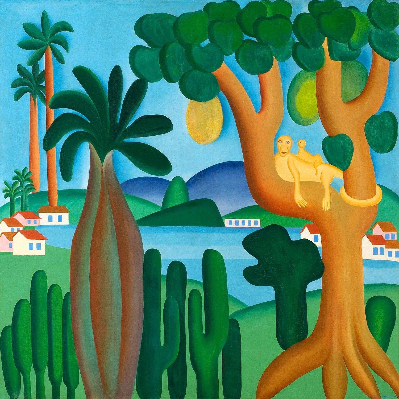 Postcard 1928 By Tarsila Do Amaral