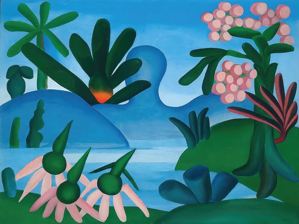 The Lake 1928 By Tarsila Do Amaral