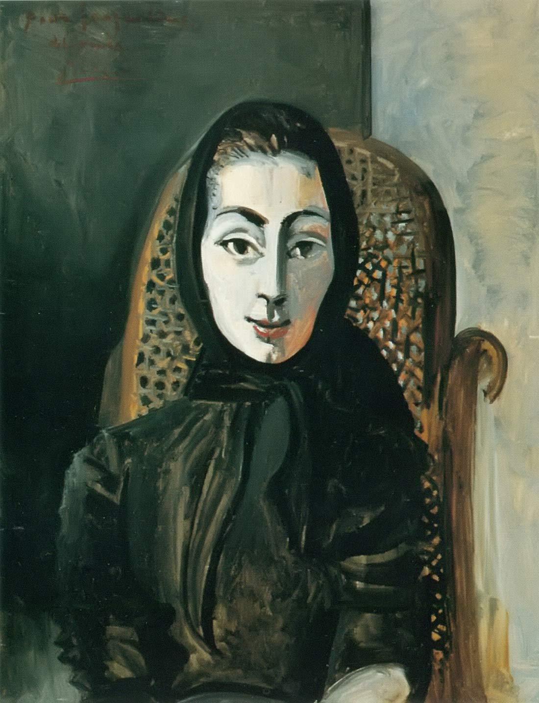 Jacqueline In A Black Scarf Pablo Picasso