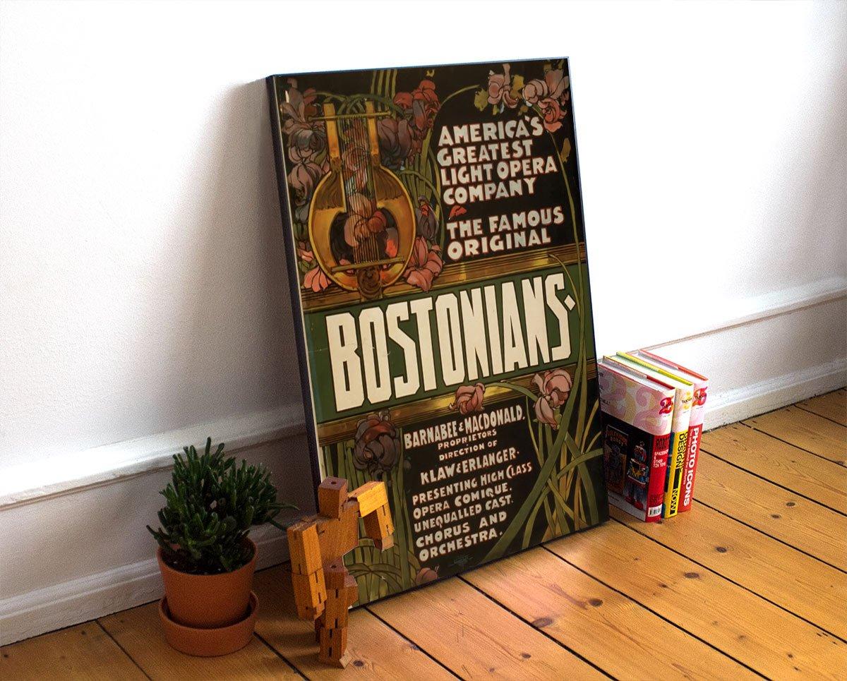 BOSTONIANS Vintage Advertisement Poster