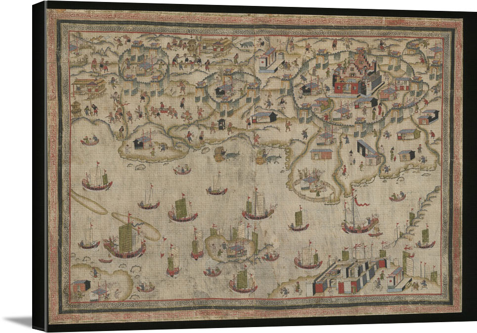 Forts Zeelandia And Provintia And The City Of Tainan - Vintage Asia Maps