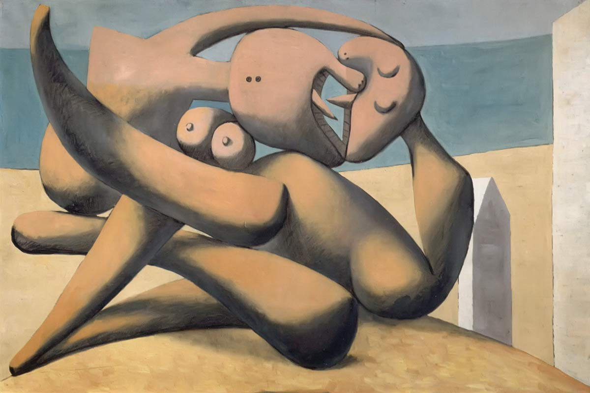 Figures By The Sea 1931 Pablo Picasso