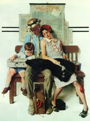 Home From Vacation by Norman Rockwell
