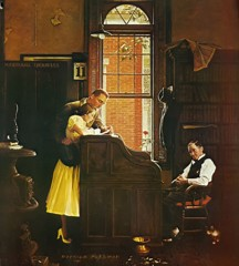 Marriage License by Norman Rockwell
