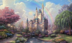 Cinderella's Castle By Thomas Kinkade