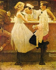 Affter The Prom by Norman Rockwell