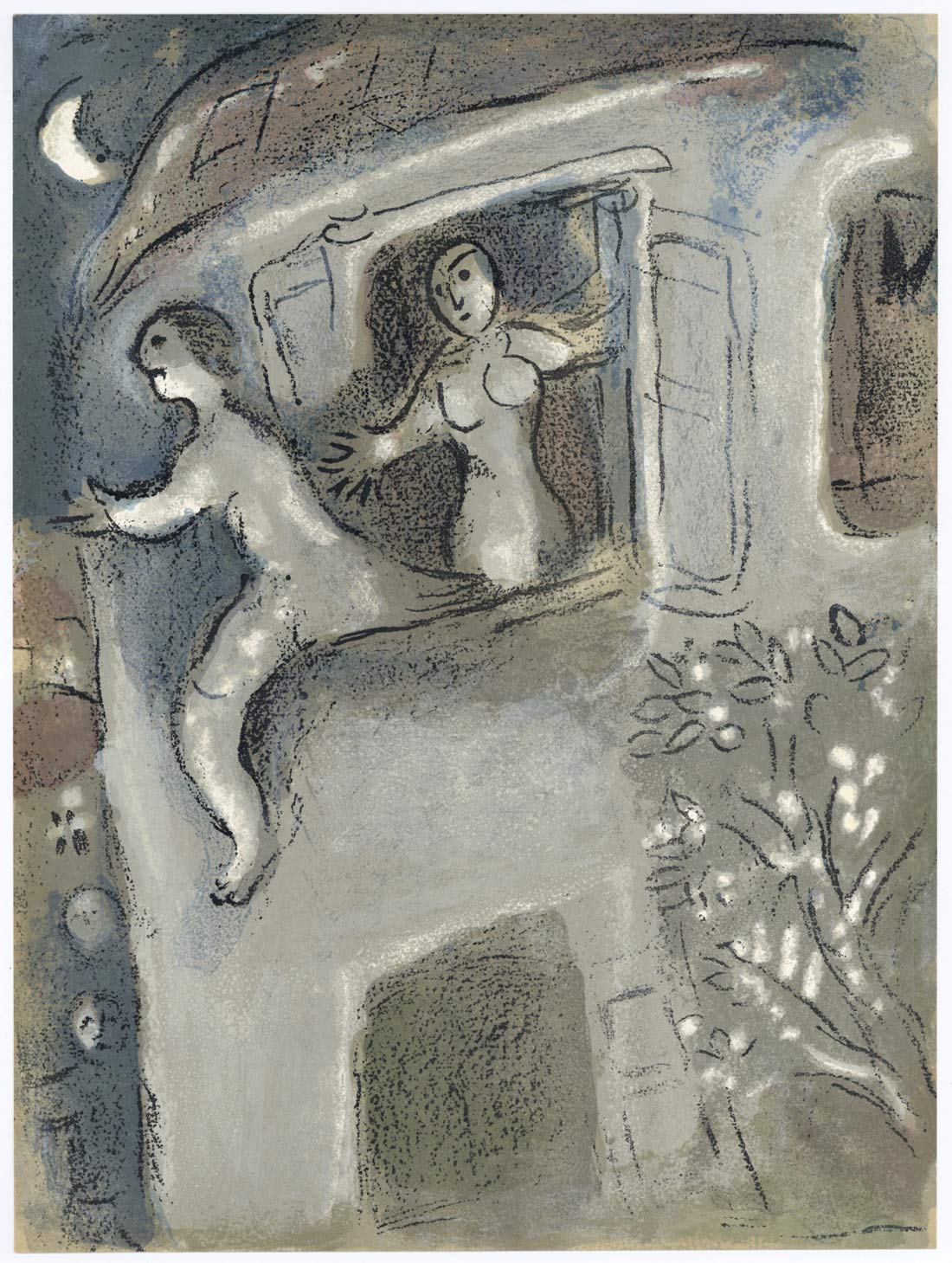 Micah Rescues David From Saul Marc Chagall