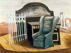 Furniture In The Valley by Giorgio De Chirico