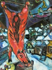 Flayed Ox by Marc Chagall