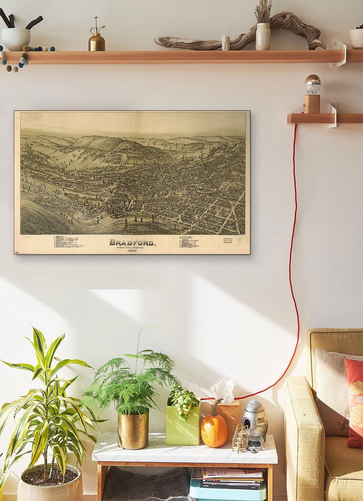 Bradford Mckean County Pennsylvania 1895 LARGE Vintage Map