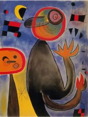 Ladders Cross The Blue Sky In A Wheel Of Fire 1935 by Joan Miro