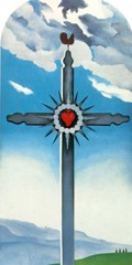 Cross With Red Heart by Georgia O Keeffe