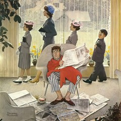Easter Morning by Norman Rockwell