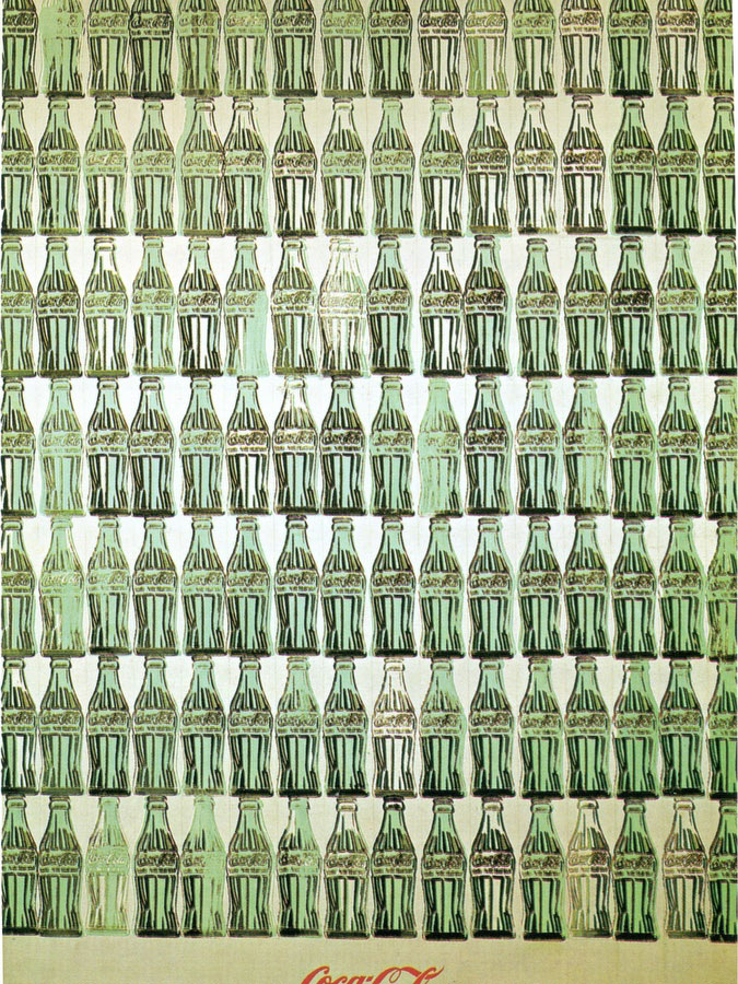 Green Coca Cola Bottles 1962 by Andy Warhol