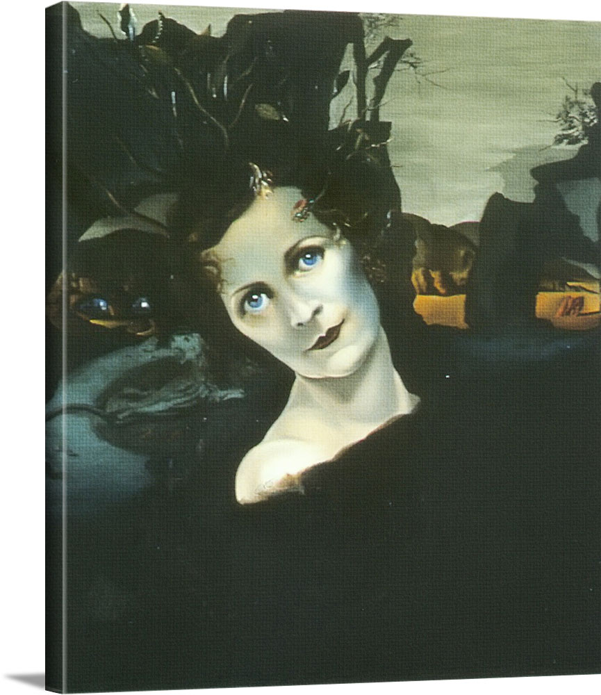 Portrait Of Lady Louis Mountbatten by Dali