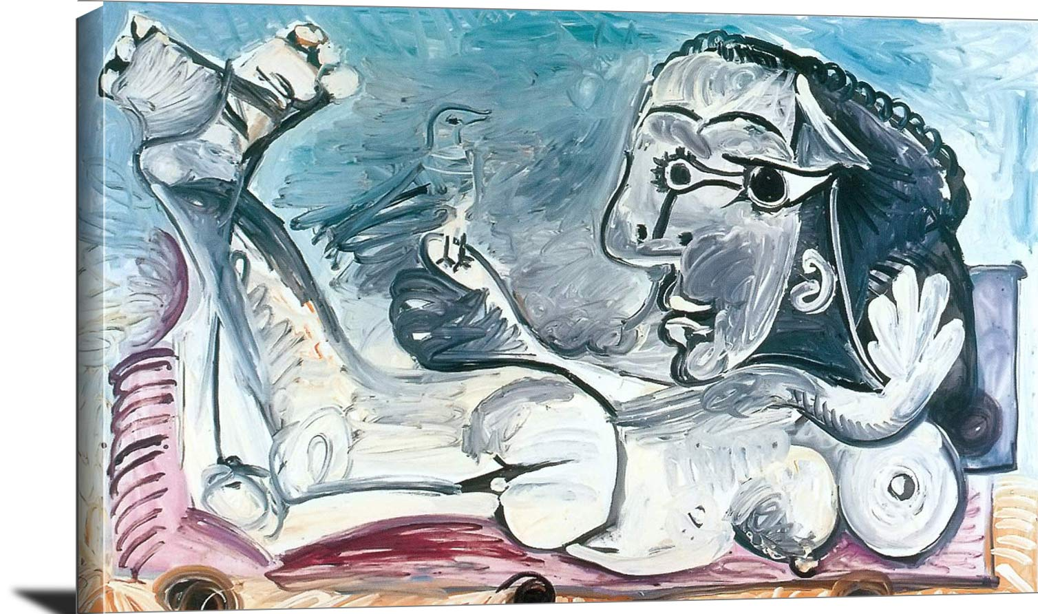Reclining Nude With A Bird 1968 Pablo Picasso