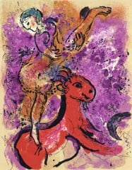 Woman Circus Rider On Red Horse Marc Chagall