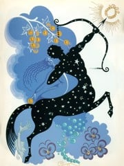 The Zodiac Sagittarius by Erte