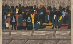 Migration Panel 60 And The Migrants Kept Coming by Jacob Lawrence