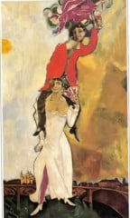 Double Portrait With A Wineglass by Marc Chagall