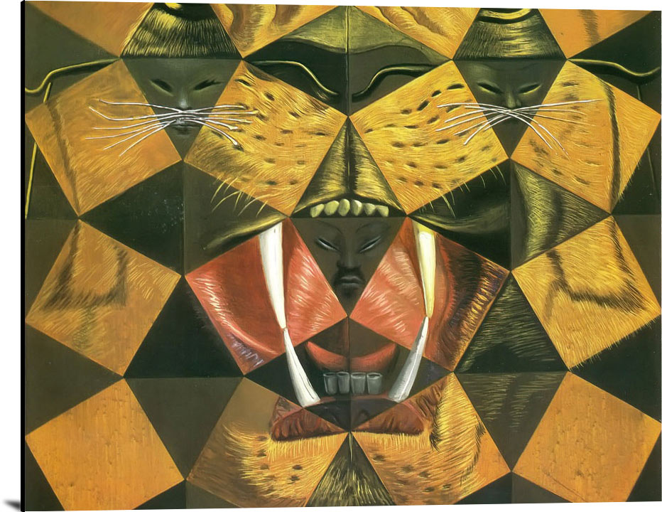 Fifty Abstract Paintings Which As Seen From Two Yards Change As Chinese by Dali