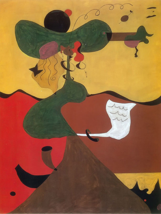Portrait Of Mrs Mills In 1750 ( After Constable) 1929 by Joan Miro