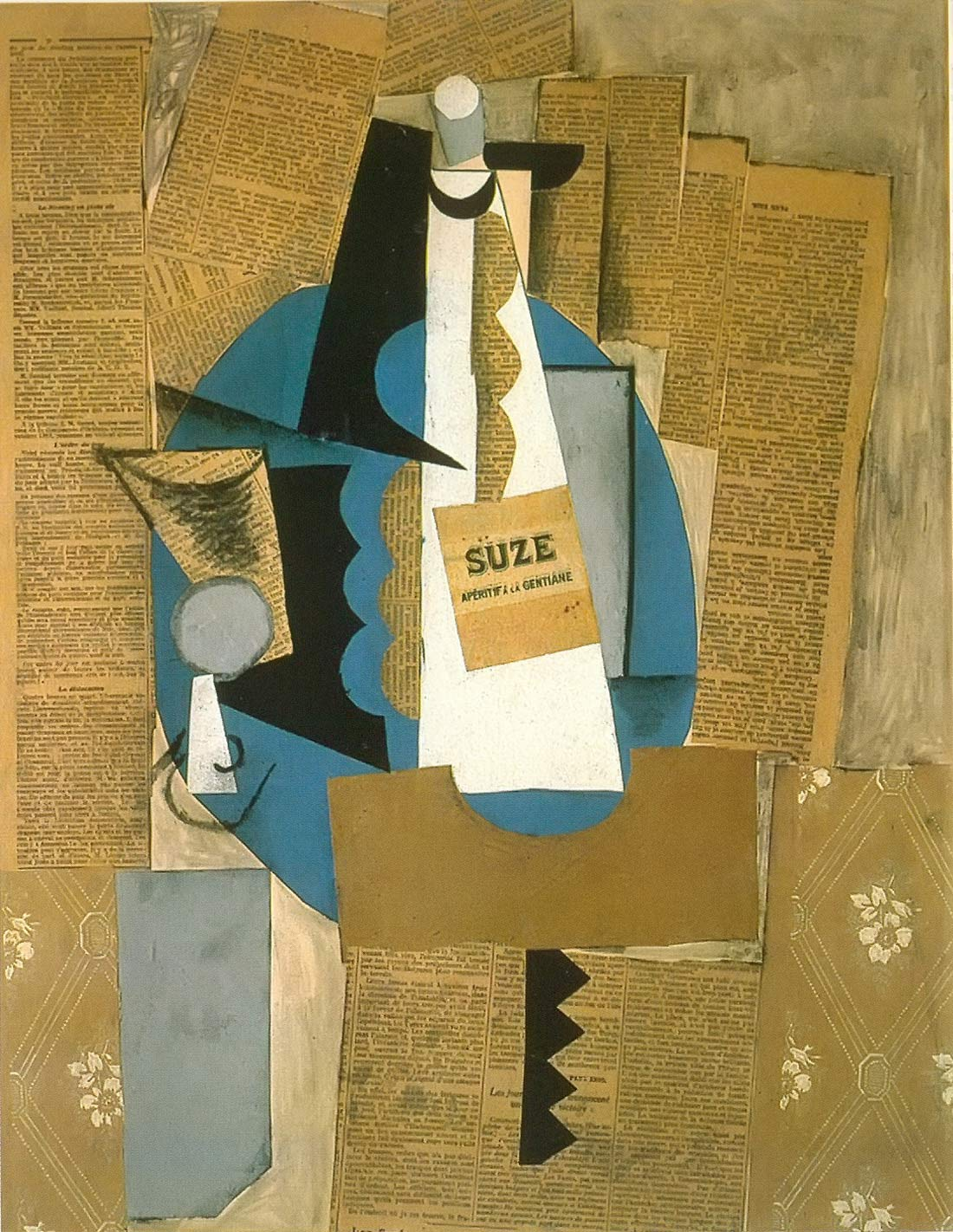 Glass And Bottle Of Suze Pablo Picasso